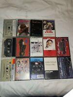 Lot Of 14 Rock Pop Cassettes Janet  Siouxsie Jethro Ocean Bangles Parsons NKOTB