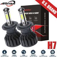 H7 2000W 300000LM 4-Sides LED Headlight Kit High or Low Light Bulb 6000K White