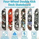 """31""""x 8"""" Kids Trick Complete Skateboard Double Kick Concave Skateboard 9-ly Maple"""