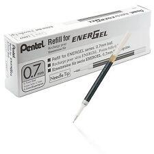 Pentel Refill Ink for EnerGel 0.7mm Needle Tip Liquid Gel Pen Pack of 12 Black