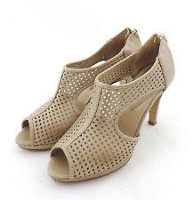 Laura Busi.com Pumps 38  beige opentoe booties Leder sandale