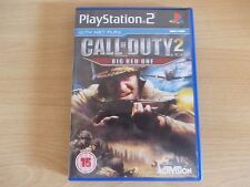 PLAYSTATION 2, CALL OF DUTY 2 , BIG RED ONE GAME WITH NET PLAY