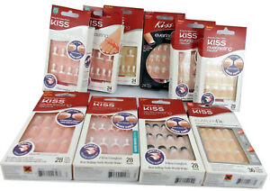 Kiss Everlasting French False Nails Kit  - Assorted Styles - New