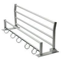 Double Aluminum Wall Mounted Bathroom Holder Towel Rail Storage Rack Shelf Q CS