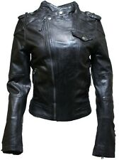 Ladies Women's BRANDO Style Fashion Biker Soft Leather Rock Jacket