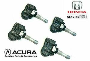 SET OF (4) OEM HONDA TPMS TIRE SENSORS 42753-T6N-A01 FOR HONDA ACURA SEE MODELS
