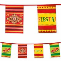 10m Plastic Bunting Mexican Fiesta Banner Garland Party Decoration