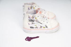 Vans Girls Sk8-Hi Space Princess Unicorn Alien Glitter Girls Boots Sneakers US4