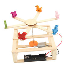 Kids Self Learning DIY Wood Merry-go-round Whirligig Carousel Education Toy