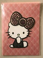 Papyrus Blank Inside Greeting Card New in Packaging - Hello Kitty Pink