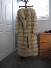 Luxury REAL Canada fox fur coat with leather trim Size S/M