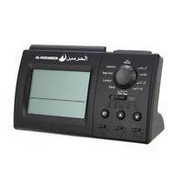 Digital Islamic Azan Alarm Table Clock Muslim Adhan Qibla Prayer Home Decor US