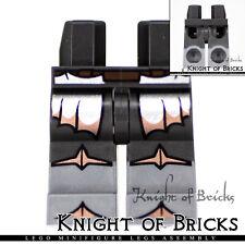 LEGO Minifigure Legs PEARL DARK GRAY Hips Flat Silver Boots Silver Copper Armor