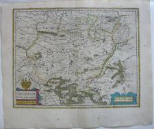 Thüringen altkolor Orig Kupferstichkarte Mercator Janssonius 1627