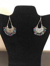 Fashion Jewelry Multi Colored Beaded Chandelier Earrings