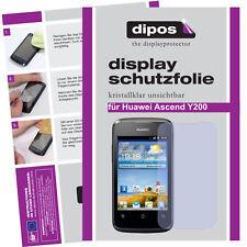 2x Dipos Crystalclear Displayschutzfolie für Huawei Ascend Y200 Displayfolie