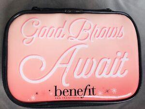 "New Benefit ""GOOD BROWS AWAIT"" Makeup Cosmetics Bag Pouch Pencil Case"