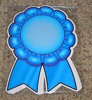 Teacher Resource: 12 Blue Ribbom Bulletin Board Accents