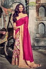 New indian and pakistani bollywood fancy party casual wear bhagalpuri silk saree