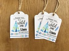 Wild One Thank you Gift Tags~Personalised for Birthday, Baby Shower, Christening