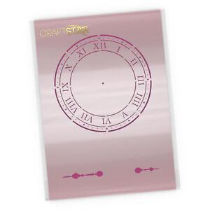 Clock Stencil - Small Clock Face Template with Roman Numerals - 16 x 16 cm