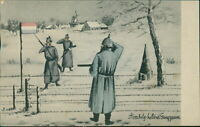 Ansichtskarte Am belgischen holländischen Grenzzaun Soldaten   (Nr.9623)