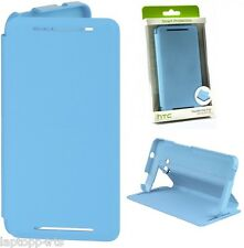 100% Genuine Official HTC One Double Dip Flip Case Cover Wallet Blue HC V841 New