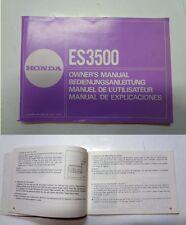Manuale manual libretto uso manutenzione generatore generator HONDA ES 3500 ing