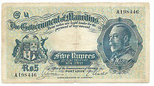 Mauritius P20 5 Rupees ND1930 serie A  KING George V