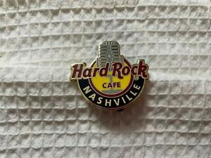 Hard Rock Cafe Nashville Global Logo Series Pin w Grey Microphone in Center