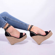 High Heel (3-4.5 in.) Beach Sandals Espadrilles for Women