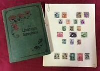 CMM5) World Collection in Old Hardbound Green William Ackland printed album
