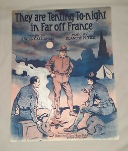 Lot of 6 WWI Piano Sheet Music: OVER THERE by George Cohan + 5 other selections