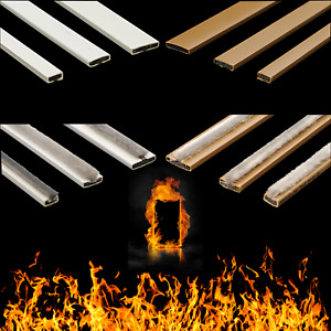 Intumescent Door Strip Seal Fire Smoke Seal White Brown **PACK 5x2100mm**