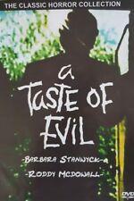 A TASTE OF EVIL  (DVD 1971 Barbara Stanwyck Roddy Mcdowal classic horror)