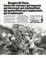 PUBLICITE ADVERTISING  1975   AC DELCO    bougies
