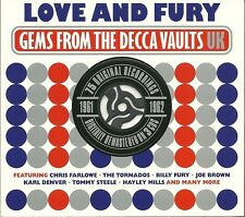 LOVE AND FURY GEMS FROM THE DECCA VAULTS UK 1961 - 1962 -3 CD BOX SET