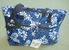 Hawaii Spirit Hawaiian Print Navy EcoBag Shopping Handbag Tote Travel Beach H05