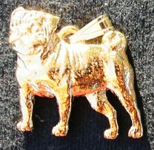 PUG Dog 24K Gold Plated Pewter Pendant Jewelry USA Made