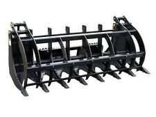 "72"" Log, Brush & Rock Grappler for Skid Steer - 3000 Hydraulic Cylinder T1 Steel"