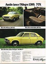Publicité Advertising 1974 Austin Allegro 1300