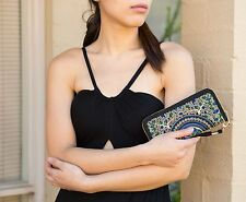 Limited Genuine Embroidered Vintage Tribal BOHO wallet, clutch, purse  PURPLE