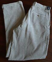 Men's Nauticua Corduroy Pants Baige Tan 32x34