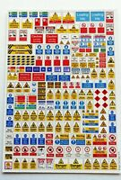 200+ N gauge DEPOT & INDUSTRIAL SIGNS, MODEL RAILWAY SIGNS, N GAUGE, 2MM SCALE