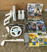 Nintendo Wii Console Bundle White RVL-001(USA) w/Games.
