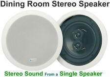 """Blanc Haut-parleur stéréo salle à manger en-plafond/au mur Double 6.5"""" 100 W 952.537"""