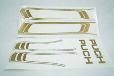 Puch Maxi S N Tank Frame Sticker Set 2 Piece Gold Moped New