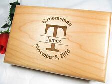 Personalized Engraved Valet Box Groomsman Groomsmen Gifts Keepsake Last Initial
