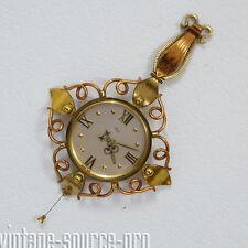 seltene Imhof Kupfer Messing 8 Tage Wanduhr Mechanisch 15 Jewels 50er J. Swiss