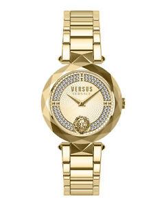 Womens Gold Versus Versace Watches Covent Garden Crystal VSPCD9721